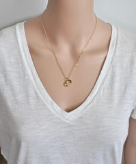 Gold Initial Necklace with November Birthstone  - product images 4 of 9