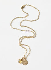 Gold Initial Necklace with November Birthstone  - product images 6 of 9