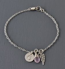 Personalized Bracelet for Miscarriage or Stillbirth in Sterling Silver - product images 5 of 11