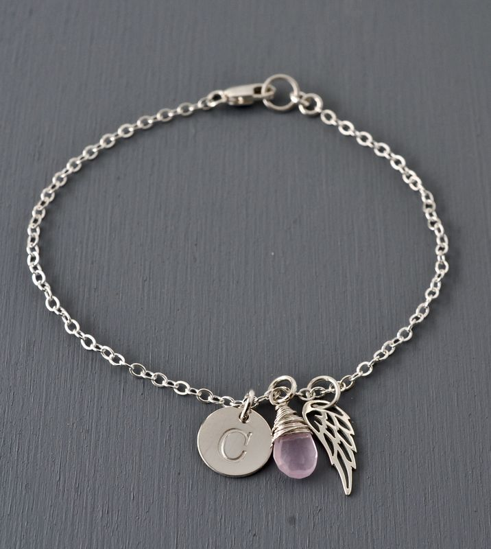 Personalized Bracelet for Miscarriage or Stillbirth in Sterling Silver - product image