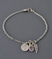 Personalized Bracelet for Miscarriage or Stillbirth in Sterling Silver - product images 6 of 11