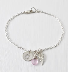 Personalized Bracelet for Miscarriage or Stillbirth in Sterling Silver - product images 7 of 11