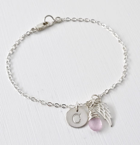 Personalized,Bracelet,for,Miscarriage,or,Stillbirth,in,Sterling,Silver,bracelet for miscarriage, bracelet for stillbirth, stillbirth gifts, miscarriage gifts