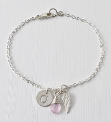 Personalized Bracelet for Miscarriage or Stillbirth in Sterling Silver - product images 2 of 11