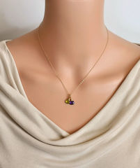 Two Birthstone Mothers Necklace in Gold Fill - product images 3 of 6