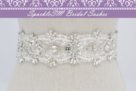 Crystal,Bridal,Sash,,Beaded,Belt,,Rhinestone,Dress,White,SparkleSM,Bridal,,Eloise,Weddings,Accessories,bridal_sash,bridal_belt,wedding_sash,wedding_belt,crystal_bridal_sash,crystal_bridal_belt,beaded_dress_sash,rhinestone_sash,rhinestone_belt,SparkleSM_Bridal,bridal_dress_sash,wedding_belt_sashes,swarovski_sash