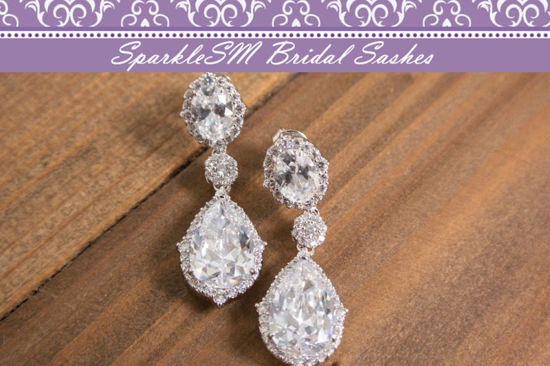 Statement Earring, Bridal Earrings, Swarovski Crystal Earrings, Crystal Drop Earring, Bridal Jewelry, Bridesmaids Earrings, SparkleSM, Meri - product image