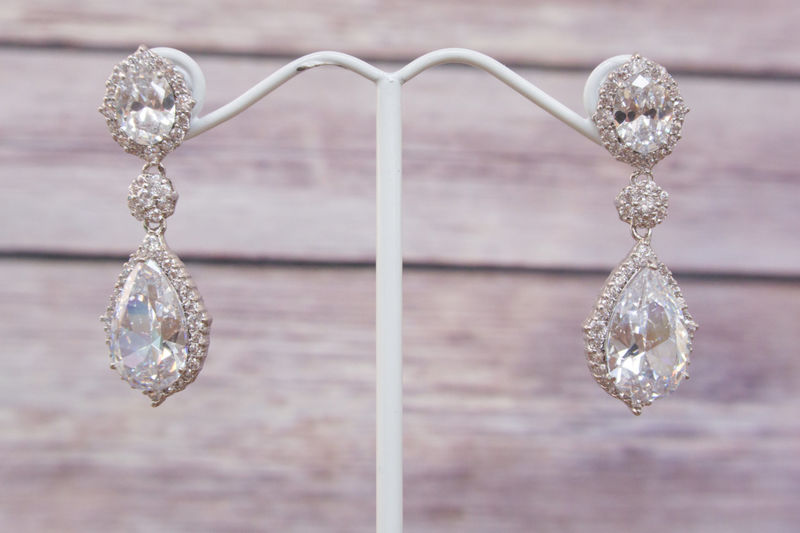 22773f5703ebbd Statement Earring, Bridal Earrings, Swarovski Crystal Earrings, Crystal  Drop Earring, Bridal Jewelry, Bridesmaids Earrings, SparkleSM, Meri -  SparkleSM ...