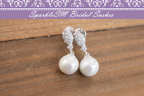 Pearl,Rhinestone,Bridal,Earrings,,Crystal,Swarovski,Wedding,Silver,Post,SparkeSM,,Carrie,Weddings,Jewelry,rhinestone_earrings,crystal_earrings,swarovski_earrings,bridesmaids_earrings,pearl_earrings,pearl_post_earrings,silver_earrings,bridal_earrings,wedding_earrings,sparklesm,CZ_Earrings,wedding_jewelry,jewelry_set,Cubic Zirconia