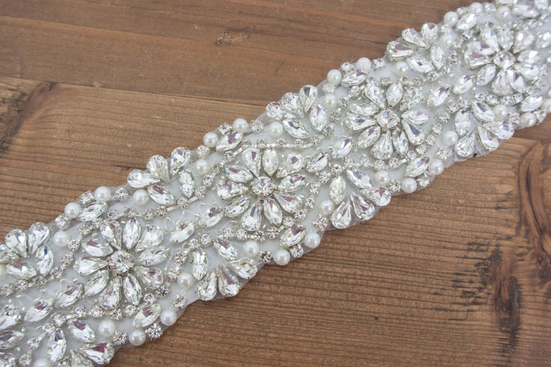 Rhinestone Crystal Bridal Belt Sash, Wedding Sash Belt, Bridal Accessories, Crystal Belt Sash Bridal Belt Bridal Sash, SparkleSM - Regan - product image