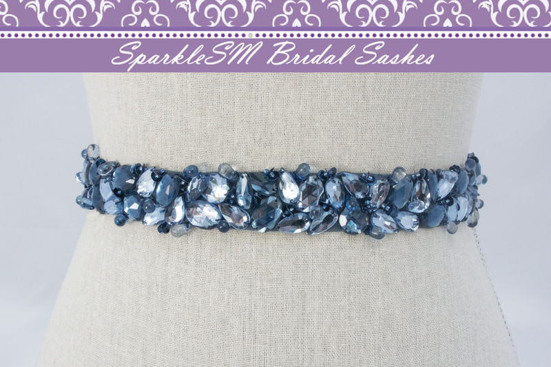Bridal Sash, Wedding Sash, Bridal Belt, Crystal Sash, Rhinestone Sash, Jeweled Belt, Bridal Belt, Wedding Gown Belt Bridal Belt Sash - Willa - product image