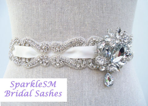 Crystal,Bridal,Sash,,Rhinestone,Wedding,Couture,Jeweled,Belt,,SparkleSM,Sashes,,Emilie,Clothing,Women,bridal_sash,bridal_dress_sash,beaded_bridal_belt,bridal_belt,wedding_belt,wedding_sash,ivory_bridal_sash,wedding_dress_sashes,rhinestone_sash,crystal_belt,crystal_bridal_sash,wedding_dress,brooch_sash