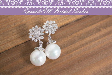 Pearl,Rhinestone,Bridal,Earrings,,Crystal,Swarovski,Wedding,Drop,SparkleSM,,Juliet,Weddings,Jewelry,pearl_bridal_earring,pearl_earrings,bridal_earrings,crystal_earrings,wedding_earrings,sparklesm,swarovski_earrings,bridesmaids_jewelery,crystal_drop_earring,pearl_earring,wedding_jewelry,teardrop_earrings,post_earrings,Cubic Zirconia