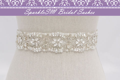 Crystal,Bridal,Sash,,Beaded,Belt,,Wedding,Dress,Sashes,,Rhinestone,Ivory,SparkleSM,Tess,Weddings,Accessories,bridal_belts,bridal_sash,bridal_sashes,bridal_belt,sparklesm,rhinestone_sash,crystal_beaded_belt,beaded_bridal_belt,bridal_belt_sashes,wedding_gown_sash,wedding_gown_sashes,pearl_bridal_sash,pearl_bridal_sashes