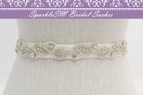 Stunning,Crystal,Bridal,Sash,Rhinestone,Beaded,Wedding,Jeweled,Sash,SparkleSM,Sashes,,Portia,Weddings,Accessories,bridal_sash,bridal_belt,wedding_belt,wedding_sash,ivory_bridal_sash,rhinestone_sash,rhinestone_belt,beaded_bridal_belt,crystal_bridal_sash,bridal_dress_sash,wedding_dress_sashes,vintage_bridal_sash,custom_bridal_sash