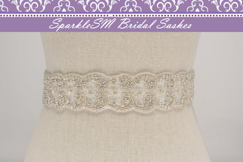 Bridal Sash, Wedding Sash, Bridal Belt, Crystal Sash, Rhinestone Sash, Jeweled Belt, Bridal Belt, Wedding Gown Belt, Bridal Belt - Alexa - product image
