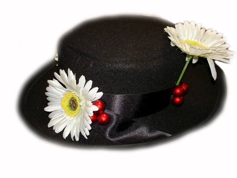 Custom Boutique MARY POPPINS Like Nanny's Black Hat - product images  of