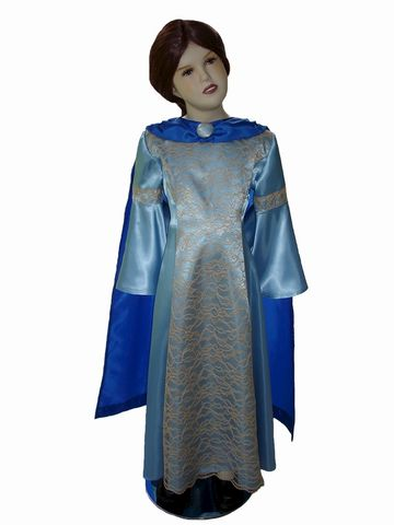 Custom,Boutique,SUSAN,Pevensie,of,Narnia,Girl's,Costume,Dress,Set,Children,Clothing,costume,girl_dress,susan_pevensie,halloween_costume,dress_up,birthday_dress,period_dress,renaissance_dress,blue_dress,lucy_pevensie,clothing,etsykids_team,snow_queen,light blue and royal blue satin,gold lace