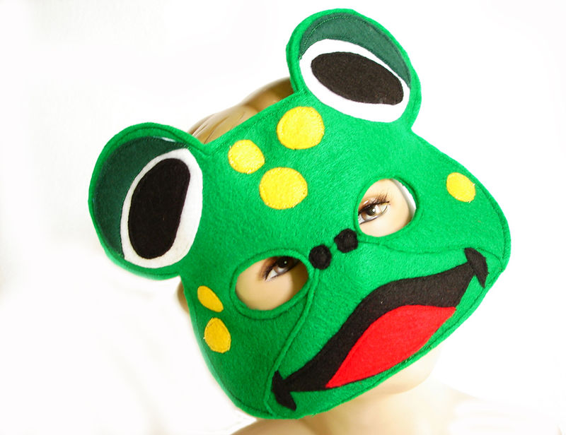 Children's FROG Felt Mask, What Does The Fox Say? - product images  of