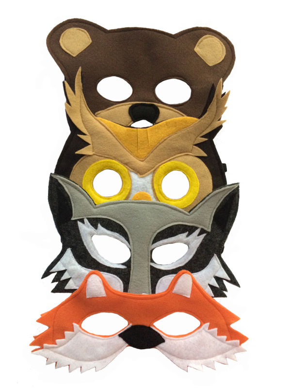Children's Woodland Animals Felt Mask Combo Set of 4 Masks - product images  of