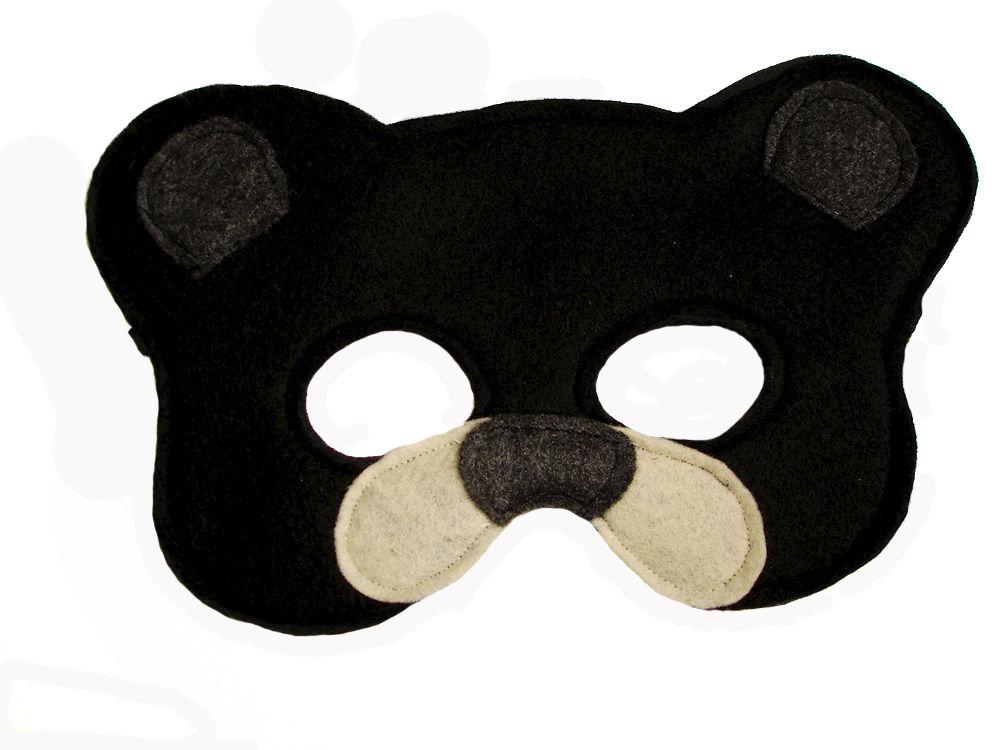Childrenu0027s Woodland Animal BLACK BEAR Felt Mask  sc 1 st  Magical Attic & Childrenu0027s Woodland Animal BLACK BEAR Felt Mask - Magical Attic