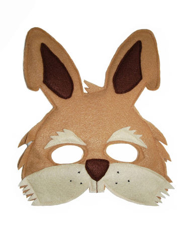 Children's,Woodland,Animal,Brown,RABBIT,Felt,Mask,Children,Clothing,Costume,dress_up,pretend_play,halloween_costume,christmas_gift,party_favor,felt_mask,etsykids_team,kids_mask,woodland_animal_mask,boys_mask,birthday_favors,toy_mask,Easter_bunny,felt,elastic