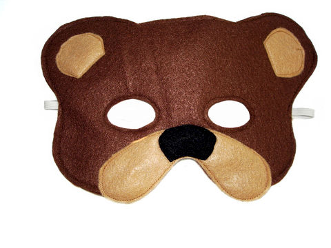 Children's,Woodland,Animal,BROWN,BEAR,Felt,Mask,Children,Clothing,Costume,dress_up,pretend_play,halloween_costume,christmas_gift,party_favor,felt_mask,etsykids_team,girls_mask,kids_mask,fairy_princess_mask,animal_mask,dog_mask,kids_bear_mask,felt,elastic