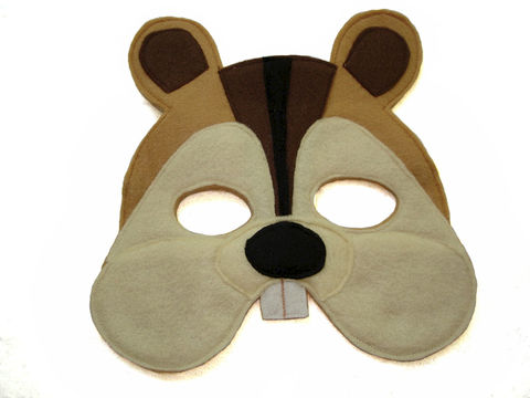 Children's,Woodland,Animal,CHIPMUNK,Felt,Mask,Children, Clothing, Costume, dress up, pretend play, halloween costume, christmas gift, party favor, felt mask, kids mask, animal mask, birthday gift, toy, fox mask, alvin, magicalattic,