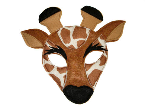 Children's,Safari,Animal,GIRAFFE,Felt,Mask,Children, Clothing, Costume, dress up, pretend play, halloween costume, party favor, felt mask, kids mask, woodland animal mask, boys mask, jungle animal, safari animal, lion king, birthday gift, zoo animal mask, magicalattic