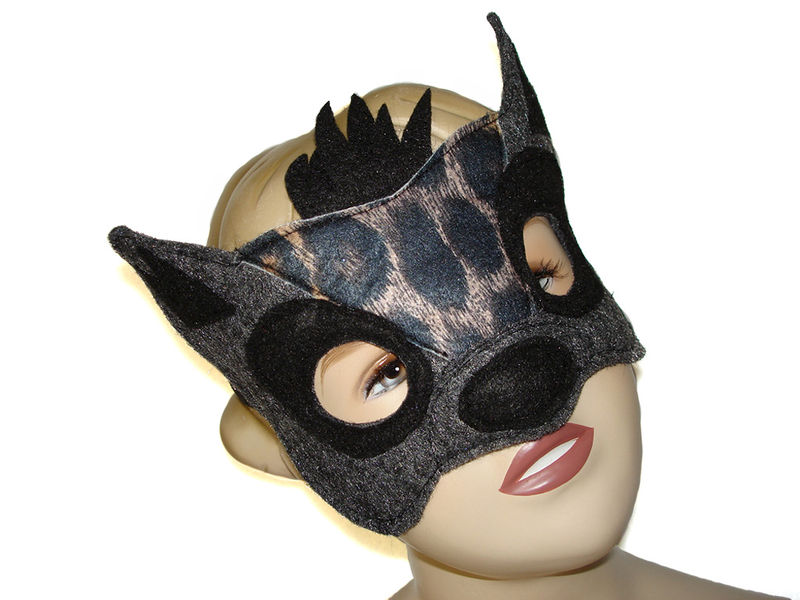 Children's Safari Animal HYENA Felt Mask and Tail Set - product images  of