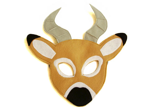 Children's,Safari,Animal,IMPALA,Felt,Mask,Children, Clothing, Costume, dress up, halloween costume, party favor, felt mask, kids mask, woodland animal mask, boys mask, jungle animal, safari animal, lion king, cheetah, impala, magicalattic, zoo animal