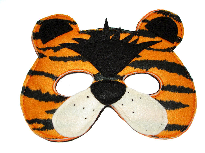 Children's TIGER Felt Animal Mask - product images  of