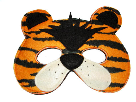 Children's,TIGER,Felt,Animal,Mask,Children, Clothing, Costume, dress up, pretend play, halloween costume, christmas gift, party favor, felt mask, kids mask, woodland animal mask, birthday theme, boys mask, birthday favors, jungle animal, safari animal, zoo animal, magicalattic