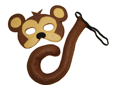 Children's,Safari,Animal,MONKEY,Felt,Mask,and,Tail,Set,Children, Clothing, Costume, dress up, pretend play, halloween costume, christmas gift, felt mask, kids mask, animal mask, eco felt, safari birthday, monkey tail, monkey kids mask, jungle animal mask, magicalattic, zoo animal mask