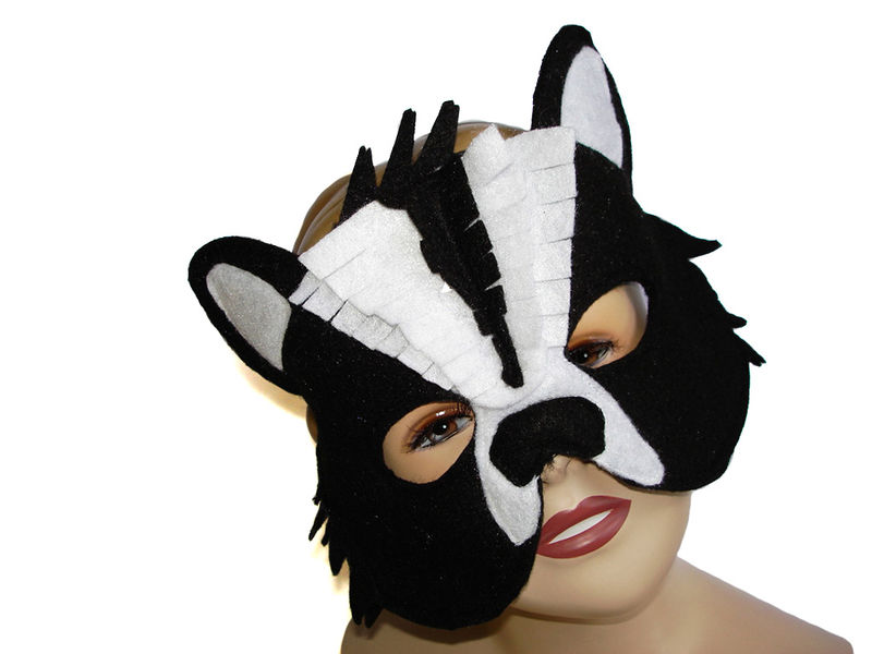 Children's Woodland Animal SKUNK Felt Mask - product images  of