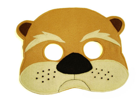 Children's,Woodland,Animal,OTTER,Felt,Mask,Children, Clothing, Costume, dress up, pretend play, halloween costume, christmas gift, party favor, felt mask, kids mask, animal mask, birthday gift, toy, fox mask, otter costume, zoo animal mask, magicalattic