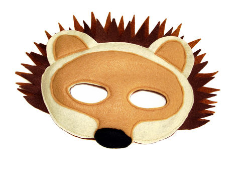 Children's,Woodland,Animal,HEDGEHOG,Felt,Mask,Children, Clothing, Costume, dress up, pretend play, halloween costume, christmas gift, party favor, felt mask, kids mask, dog mask, woodland animal mask, birthday theme, boys mask, birthday favors, zoo animal mask, magicalattic