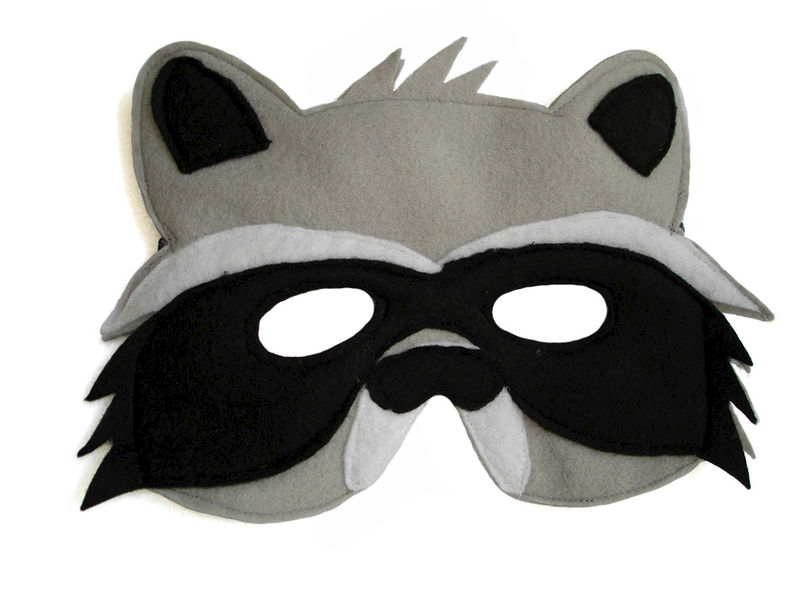 Childrens Woodland Animal RACCOON Felt Mask