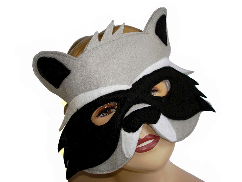 Children's Woodland Animal RACCOON Felt Mask - product images  of