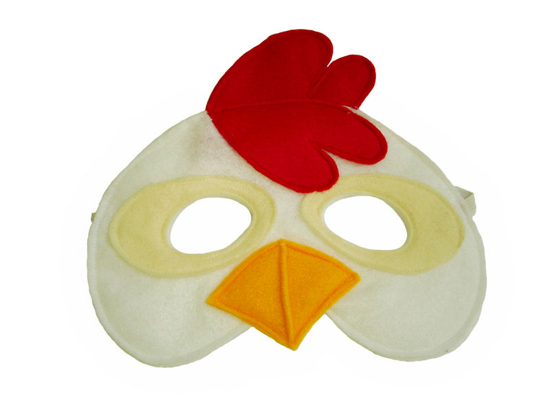 Children's Farm Barnyard Animal Yellow DUCK Felt Mask - product images  of