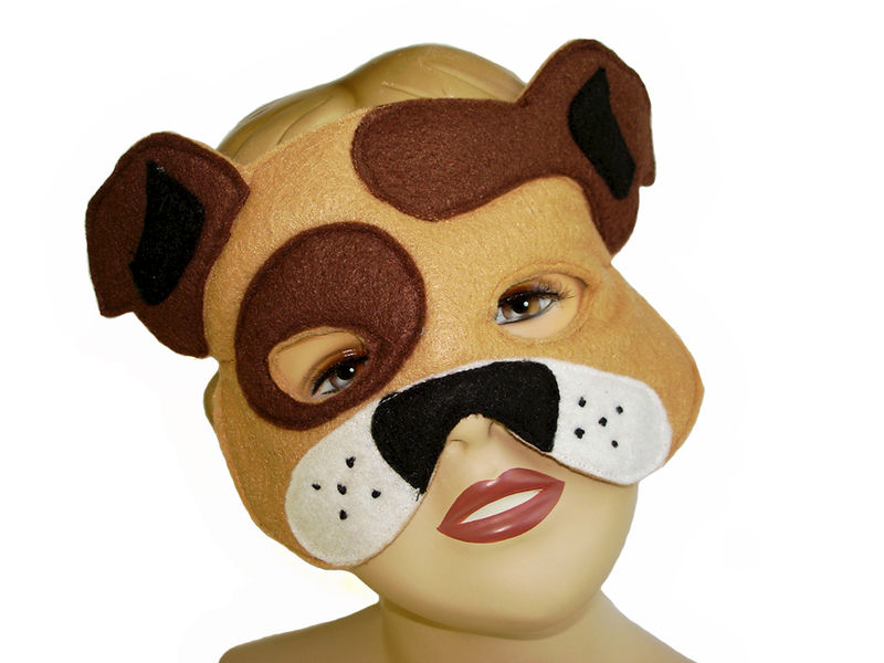 Children's Farm Barnyard Animal DONKEY Felt Mask - product images  of