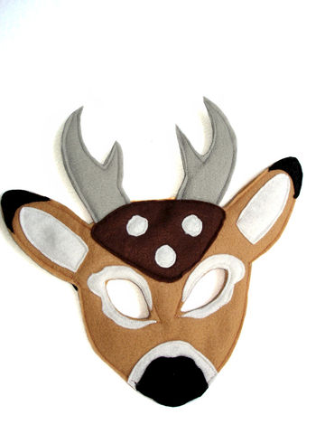 Children's,Woodland,Animal,DEER,Felt,Mask,Children, Clothing, Costume, dress up, pretend play, halloween costume, christmas gift, party favor, felt mask, kids mask, woodland animal mask, birthday theme, boys mask, birthday favors, toy mask, magicalattic