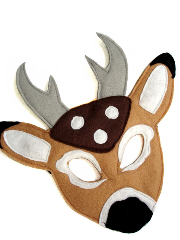 Children's Woodland Animal DEER Felt Mask - product images  of