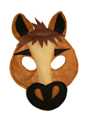 Children's,Farm,Barnyard,Animal,HORSE,Felt,Mask,Children, Clothing, Costume, dress up, pretend play, halloween costume, party favor, felt mask, kids mask, woodland animal mask, boys mask, farm animals, toy, mustang, birthday party, magicalattic