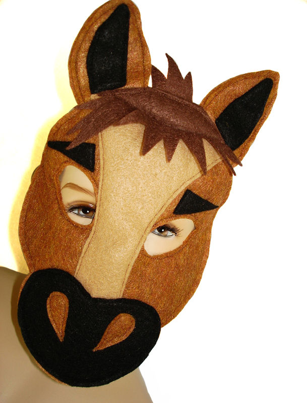 Children's Farm Barnyard Animal HORSE Felt Mask - product images  of
