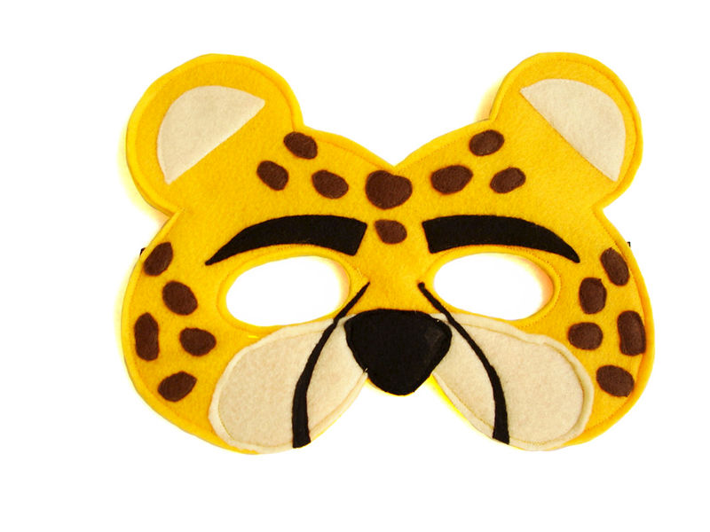 Children's Safari Animal LEOPARD Felt Mask - product images  of