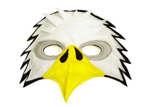 Children's,BALD,EAGLE,Felt,Mask,Children, Clothing, Costume, dress up, pretend play, halloween costume, christmas gift, party favor, felt mask, kids mask, woodland animal mask, birthday theme, boys mask, toy mask, bird mask, woodland animl mask, magicalattic