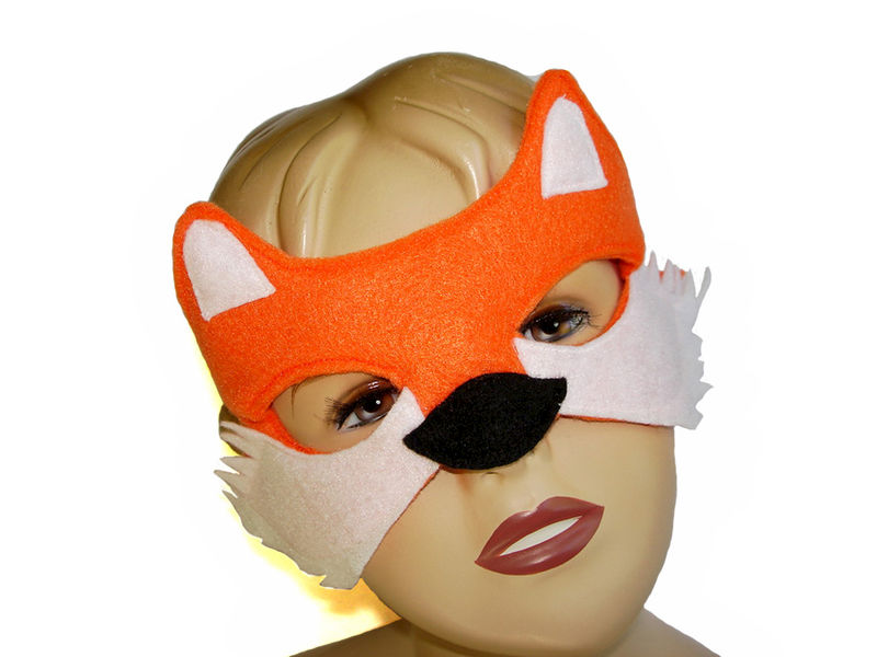 Children's Woodland Animal Fox Felt Mask - product images  of