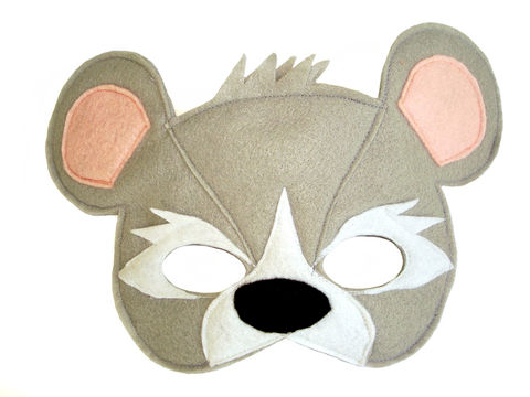 Children's,Animal,MOUSE,Felt,Mask,Children, Clothing, Costume, fantasy mask, dress up, pretend play, halloween costume, christmas gift, party favor, girls mask, kids mask, fairy princess mask, animal mask, woodland animals, party favors, rodent mask, magicalattic
