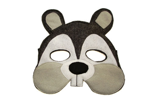 Children's,Woodland,Animal,SQUIRREL,Felt,Mask,Children, Clothing, Costume, dress up, pretend play, halloween costume, christmas gift, party favor, felt mask, kids mask, animal mask, birthday gift, toy, fox mask, grey squirrel mask, magicalattic